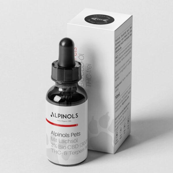 Alpinols CBD Lachs Tropfen kein THC für Katzen